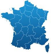 Carte de France Observatoires ESS