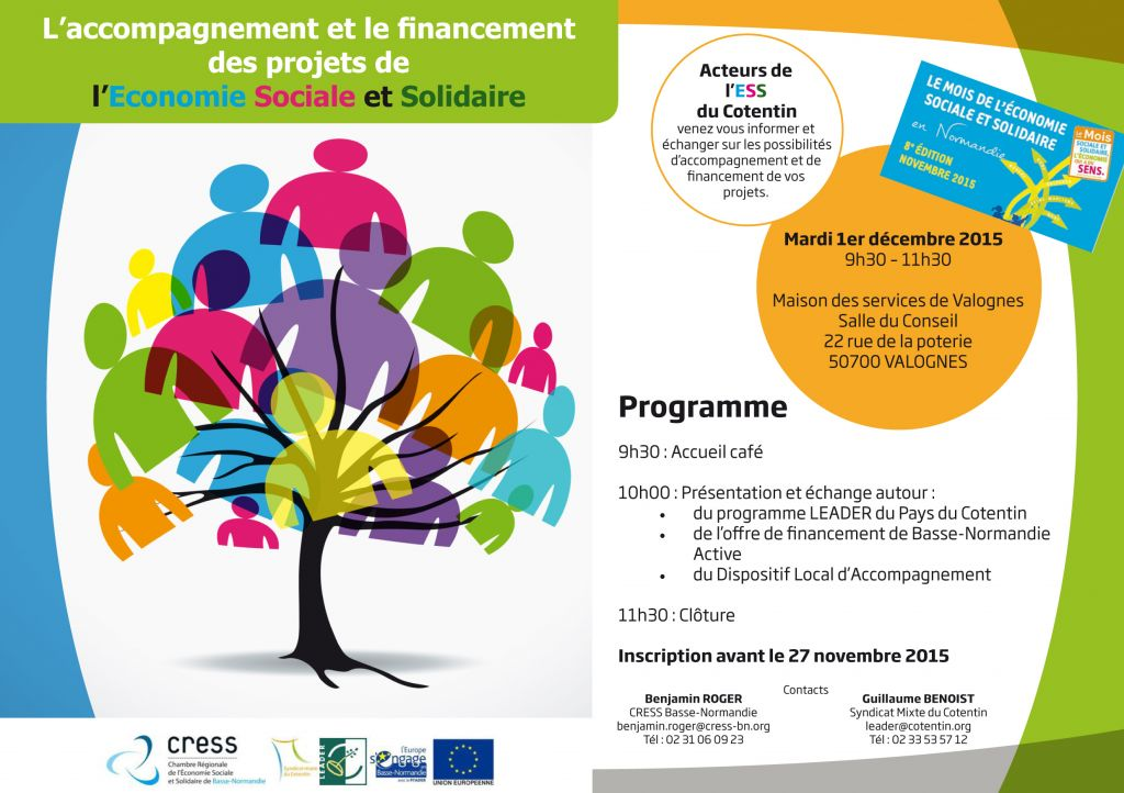 Le financement des projets d ess dans le cotentin 1er - Chambre de l economie sociale et solidaire ...