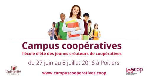 Campus Coopératives 2016 – Du 27 juin au 8 juillet – Poitiers