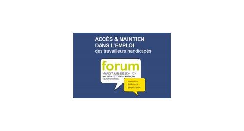 Accès et maintien dans l'emploi des travailleurs handicapés - 7 juin - Alençon