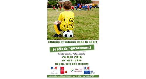 Formation l'éthique et les valeurs dans le sport – 24 mai – Rouen
