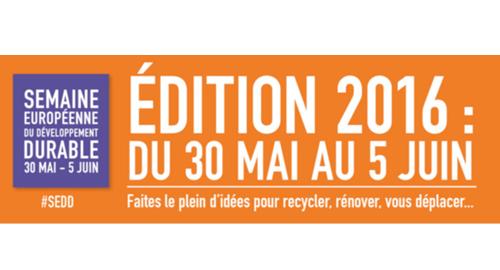 Semaine européenne du développement durable – Du 30 mai au 5 juin