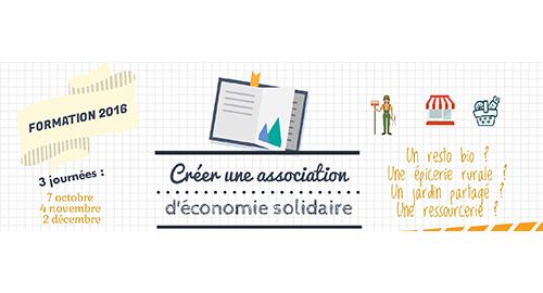 """Formation """" Créer une association d'économie solidaire """" – 7 octobre, 4 novembre et 2 décembre – Caen"""