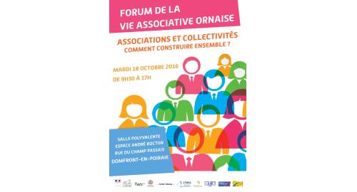 Forum de la vie associative ornaise « Associations et collectivités : comment construire ensemble ? » - 18 octobre - Domfront-en-Poiraie