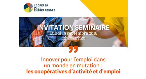 Innover pour l'emploi dans un monde en mutation : les CAE – 19 septembre – Paris