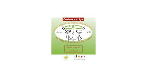 """Conférence en ligne """"Transmission et reprise d'entreprises dans l'ESS : les rôles des collectivités locales"""" - 8 novembre"""