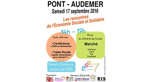 Les Rencontres de l'Économie Sociale et Solidaire – 17 septembre – Pont-Audemer