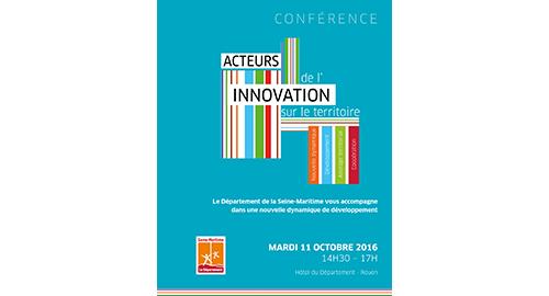 Conférence Acteurs de l'innovation sur le territoire – 11 octobre – Rouen