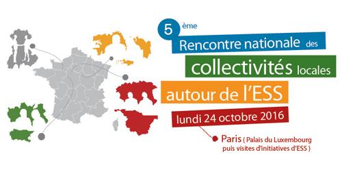 5e Rencontre nationale des collectivités locales autour de l'ESS – 24 octobre – Paris
