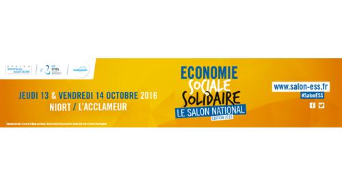 Salon National de l'Économie Sociale et Solidaire - 13 et 14 octobre - Niort