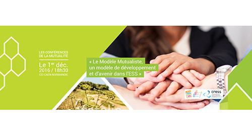 """Conférence """"Le Modèle Mutualiste, un modèle de développement et d'avenir dans l'Économie Sociale et Solidaire"""" - 1er décembre - Saint-Contest"""