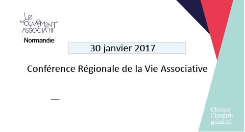 Conférence Régionale de la Vie Associative en Normandie – 30 janvier – Houlgate