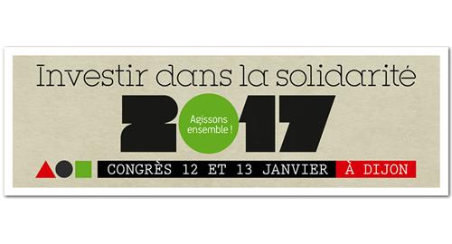 """Congrès national de la FNARS : """"Investir dans la solidarité : agissons ensemble !"""" - 12-13 janvier - Dijon"""