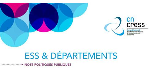 """Publication de la note """"ESS & Départements"""""""