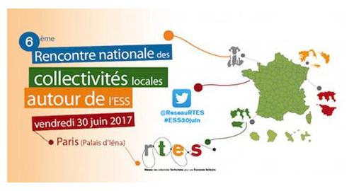 6e Rencontre nationale des collectivités locales autour de l'ESS - 30 juin - Paris