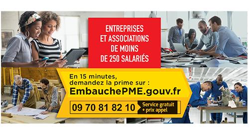 Entreprises, associations : la Prime Embauche PME prorogée jusqu'au 30 juin