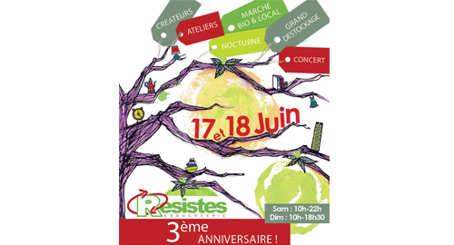 La ressourcerie Résistes fête ses 3 ans - 17 et 18 juin - Darnétal