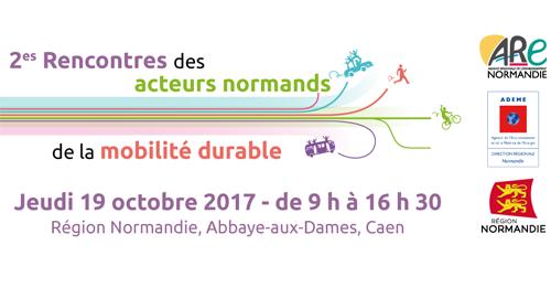 2e Rencontres des acteurs normands de la mobilité durable - 19 octobre - Caen