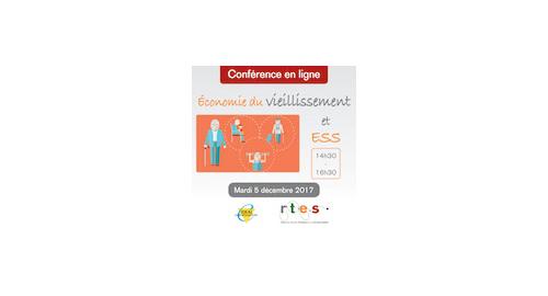 """Conférence en ligne """"Économie du vieillissement et ESS"""" le 5 décembre Conférence en ligne """"Économie du vieillissement et ESS"""" - 5 décembre"""