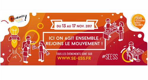 Semaine étudiante pour l'économie sociale et solidaire - Du 13 au 17 novembre