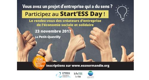 Participez au prochain Start'ESS Day - 23 novembre - Rouen
