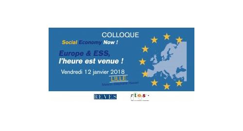"""Colloque RTES/REVES """"Europe & ESS, l'heure est venue !"""" - 12 janvier - Lille"""