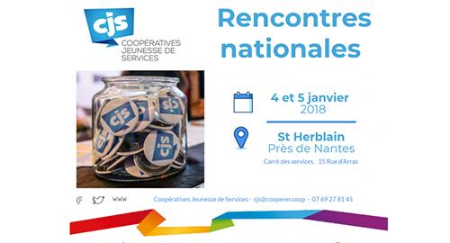 Rencontres nationales Coopératives Jeunesse de Services - 4 janvier - Saint-Herblain