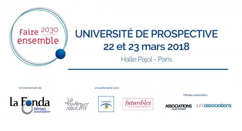 Université de prospective « Faire ensemble 2030 » - 22 et 23 mars - Paris