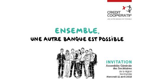 Forum « Ensemble, préparons la banque de demain » et remise du Prix Régional de l'Initiative du Crédit Coopératif – 11 avril – Caen