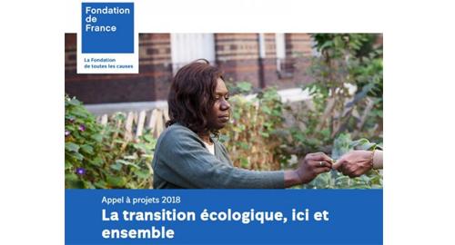 Appel à projets : La transition écologique, ici et ensemble jusqu'au 11 avril