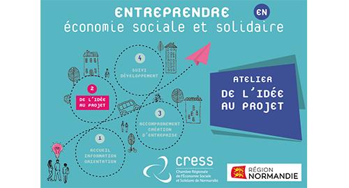 """Des ateliers """"De l'idée au projet"""" pour les créateurs d'entreprise d'ESS en Normandie"""