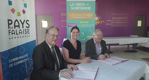 Signature d'une convention partenariale entre la CRESS et la Communauté de Communes du Pays de Falaise pour le développement de l'ESS