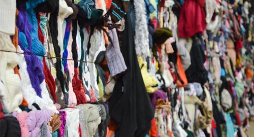 Reprise des vêtements recyclés de l'Anaef par Les Jardins d'Arlette à Falaise